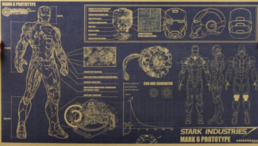 Juliste Iron Man, Stark Industries 70 x 38 cm